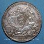 Monnaies Lyon. Drapiers. Jeton argent 1755