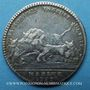 Monnaies Marine. Louis XV. Jeton argent 1757