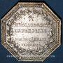Monnaies Messageries impériales. Jeton argent 1809. Gravé par Droz