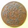 Monnaies Municipalité de Lyon. Deschamps, Ravachol, Dumarest, Rigod. Jeton cuivre 1747
