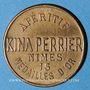 Monnaies Nîmes (30). Kina Perrier. Apéritif. Type avec petite tête de Marianne