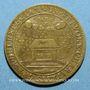Monnaies Nivernais. Fondation Louis de Gonzague et Henriette de Clèves. Jeton cuivre jaune 1651