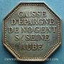 Monnaies Nogent-sur-Seine. Caisse d'Epargne. Jeton argent octogonal