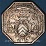 Monnaies Normandie. Clergé de Rouen. de la Rochefoucauld, archevêque. Jeton argent 1778