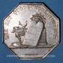 Monnaies Notaires. Auxerre. Jeton argent 1838. Poinçon : main indicatrice