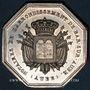 Monnaies Notaires. Bar-sur-Aube. Jeton argent 1840. Poinçon : main indicatrice