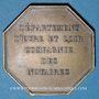 Monnaies Notaires. Eure-et-Loire. Jeton bronze 1836. Poinçon : corne d'abondance