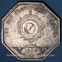 Monnaies Notaires. Lyon. Jeton argent 1839. Poinçon : lampe