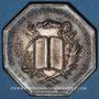 Monnaies Notaires. Lyon. Jeton argent 1883. Poinçon : corne d'abondance
