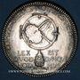 Monnaies Notaires. Paris. Jeton bronze argenté