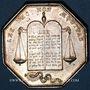 Monnaies Notaires. Pithiviers. Jeton argent. Poinçon : lampe antique