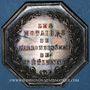 Monnaies Notaires. Saint-Etienne. Jeton argent 1846. Poinçon : main indicatrice