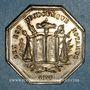 Monnaies Notaires. Vienne. Jeton argent 1837. Poinçon : corne d'abondance