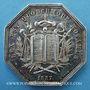 Monnaies Notaires. Vienne. Jeton argent 1837. Poinçon : proue de navire