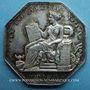 Monnaies Notaires. Villefranche. Jeton argent 1825. Poinçon : pipe