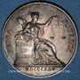 Monnaies Notaires. Villefranche. Jeton argent 1825. Sans poinçon