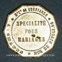 Monnaies Paris (75). A la gerbe d'or, A. Chapus, bijouterie, montres, pendules. Jeton publicitaire laiton arg
