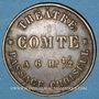 Monnaies Paris (75). Théâtre Comte. Jeton publicitaire laiton