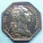 Monnaies Paris. Agents de change. Louis XVI. Jeton argent 1786. Octogonal