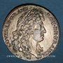 Monnaies Paris. Bâtiments du Roi. Louis XIV. Jeton cuivre argenté 1683