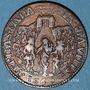 Monnaies Paris. Cabaretiers. Jeton cuivre 1660