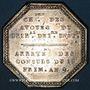 Monnaies Paris. Chambre des avoués du tribunal de 1ère instance. Jeton argent 1801