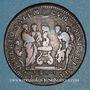 Monnaies Paris. Gabelles de France. Jeton cuivre. 1664