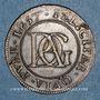 Monnaies Paris. Noblesse de l'Ile de France. Surmain. Jeton cuivre 1657
