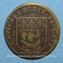 Monnaies Paris. Prévôts des marchands. A. de Seve. Jeton cuivre 1659