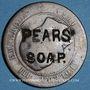 Monnaies PEARS' SOAP. contremarqué sur 10 cmes 1854