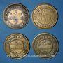 Monnaies Pontorson (50). Produit J. Vrillac. Lot de 4 jetons publicitaires