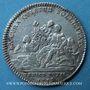 Monnaies Trésor royal. Louis XIV. Jeton argent 1715