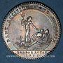 Monnaies Trésor royal. Louis XIV. Jeton argent 1758