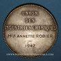 Monnaies Union des Industries chimiques 1947. Jeton argent. 36,49 mm