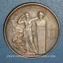 Monnaies Union des Industries chimiques 1951. Jeton argent. Flan mat