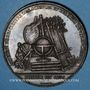Monnaies Valenciennes, Société d'Agriculture, des Sciences et des Arts, jeton cuivre. Poinçon : pipe