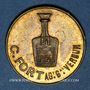 Monnaies Verdun (55). C. Fort, agent général de Liqueur Cordelière Gury-Rousselot à Bourmont. Jeton laiton