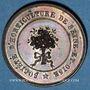 Monnaies Versailles, Société d'horticulture de Seine-et-Oise, 1840, jeton cuivre 27,7 mm