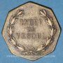 Monnaies Vesoul. Lycée. Jeton octogonal en laiton 25,6 mm