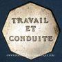 Monnaies Vesoul, Lycée, jeton octogonal en laiton argenté 25,5 mm