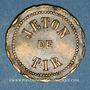 Monnaies Vesoul. Société de tir. Jeton laiton. 25 mm