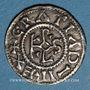 Monnaies Charles le Chauve (840-877). Denier. Chartres