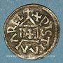Monnaies Louis le Pieux (814-840). Imitation barbare de l'obole au temple (frisonne ou viking ?)