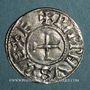 Monnaies Pépin I (814-838) ou Pépin II (839-852), roi d'Aquitaine. Denier. Toulouse
