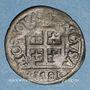 Monnaies Duché de Lorraine. Charles III (1545-1608). Deux deniers 1581. Nancy