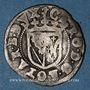 Monnaies Duché de Lorraine. Charles III (1545-1608). Sol ou carolus contremarqué (1597). Nancy
