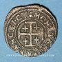 Monnaies Duché de Lorraine. Charles IV, 1er règne (1625-1634). Double denier. Nancy