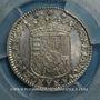 Monnaies Duché de Lorraine. Charles IV, 2e règne (1661-1670). Demi-teston 1664. Nancy