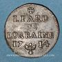 Monnaies Duché de Lorraine. Léopold I (1697-1729). Liard 1714. Nancy
