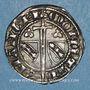 Monnaies Duché de Lorraine. Raoul (1329-1346). 1/4 gros. Nancy. R ! R ! Variante inédite !
